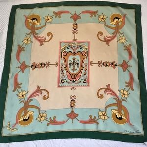 vintage coat of arms Florence silk scarf